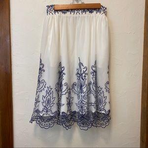 New eShatki Embroidered Taffeta Skirt- 20